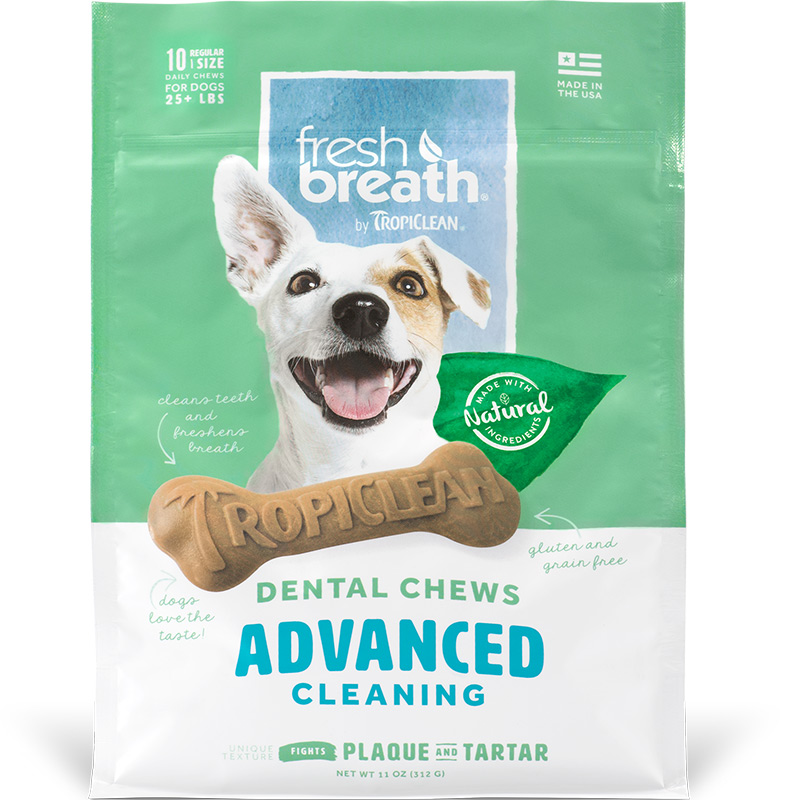 Tropiclean Fresh Breath Dental Chews Advanced Cleaning  I016162b