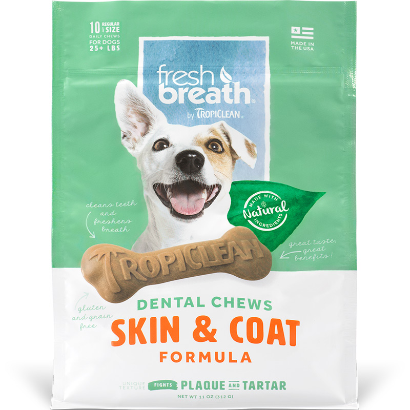 TropiClean Fresh Breath Dental Chews Skin & Coat  I016165b