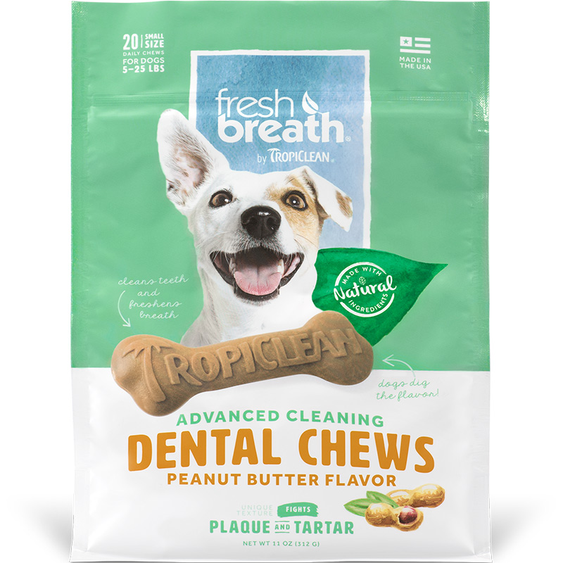 TropiClean Advanced Cleaning Dental Chews Peanut Butter Flavor for Small Dogs I016167