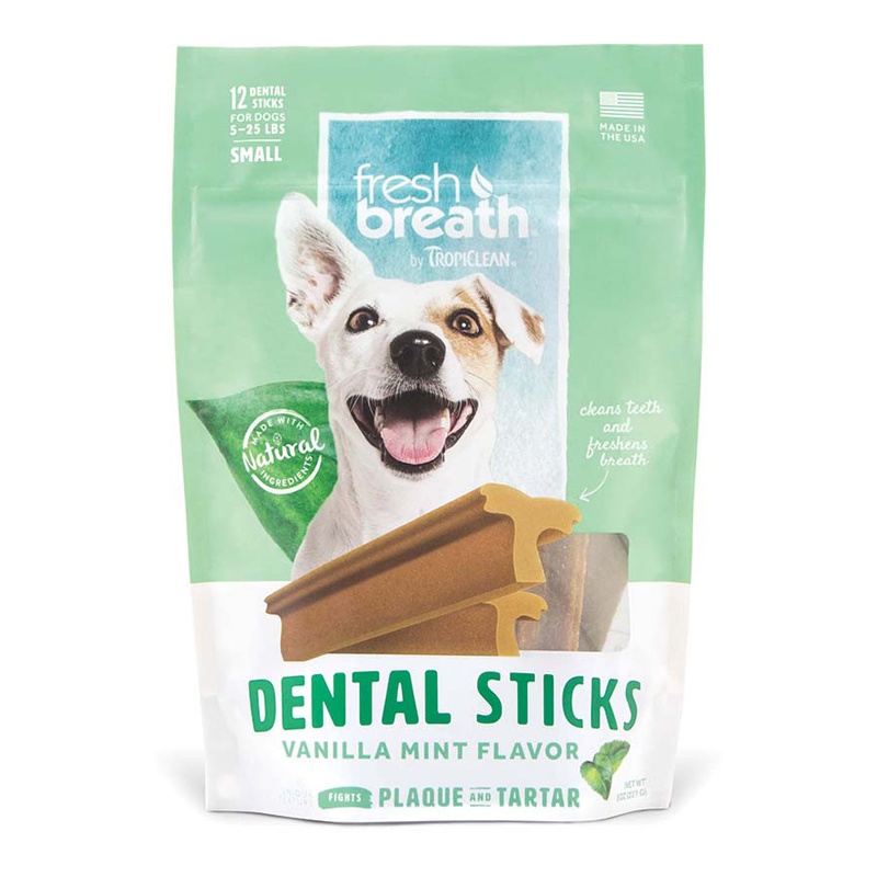 Tropiclean Fresh Breath Dental Sticks Small For Dogs 5-25 lbs 12 ct I016170