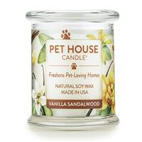 One Fur All Pet House Candle Jar Vanilla Sandalwood 8.5 oz. I016188