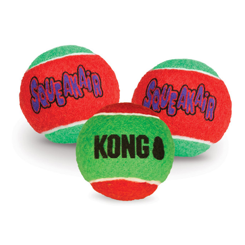 KONG SqueakAir Holiday Balls Medium 3 pack I016197