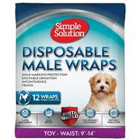 Simple Solution® Disposable Male Wrap 12pk I016202
