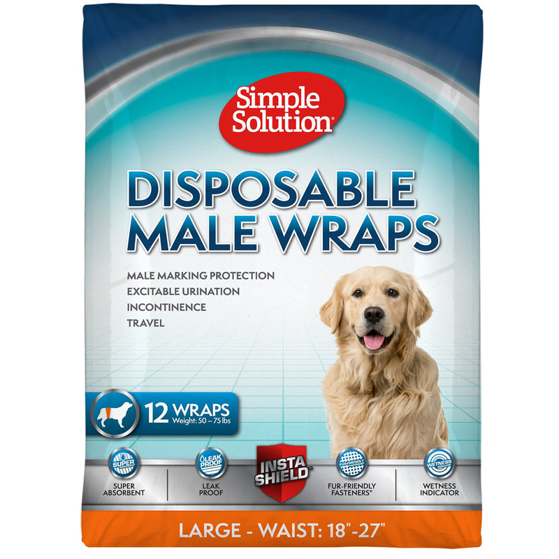 Simple Solution® Disposable Male Wrap LG 12pk I016205