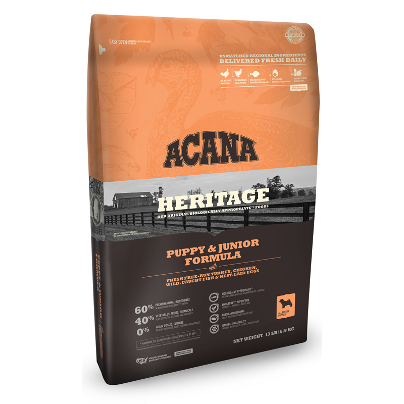 ACANA Heritage Puppy & Junior Formula Dog Food  I016267