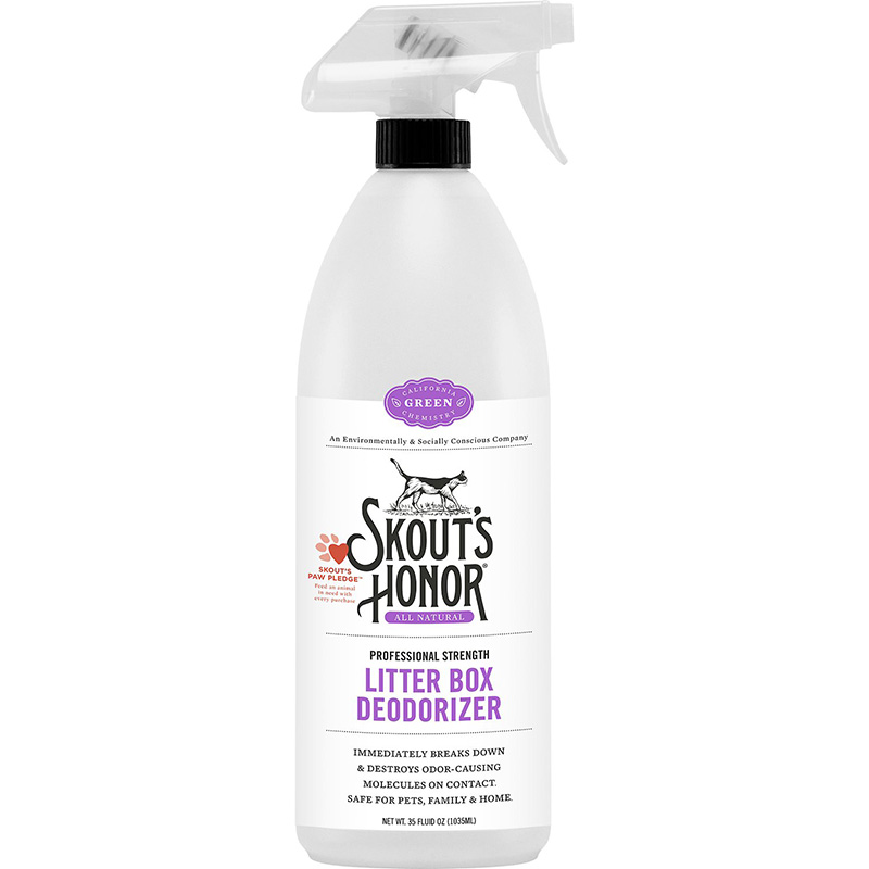 Skout's Honor Litter Box Deodorizer Trigger Spray Bottle 35 oz. I016345