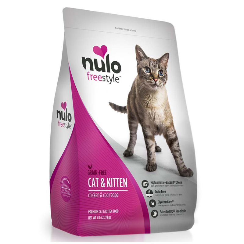 Nulo Freestyle Grain Free Chicken & Cod Recipe Cat & Kitten Food 5 lb  I016364