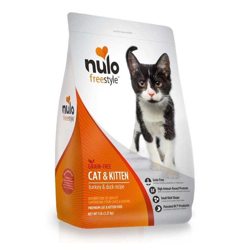 Nulo Freestyle Grain Free Turkey & Duck Recipe Cat & Kitten Food 5 lb  I016365