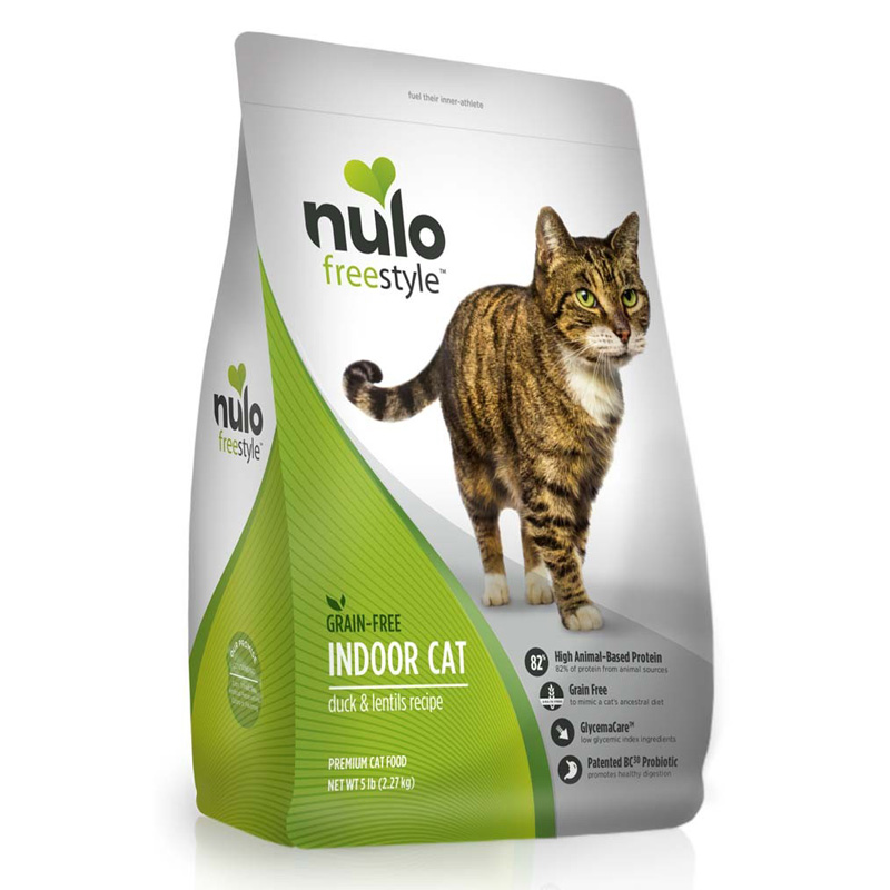 Nulo Freestyle Indoor Cat Grain Free Duck & Lentils 5 lb  I016366