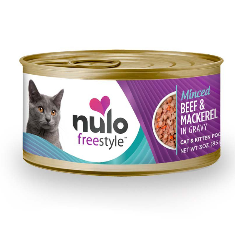 Nulo Freestyle Minced Beef & Mackerel In Gravy Cat & Kitten Food 3oz I016368