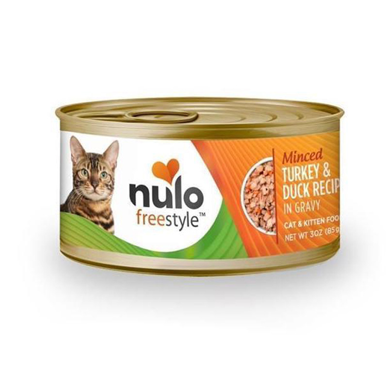 Nulo Freestyle Minced Turkey & Duck Recipe In Gravy Cat & Kitten Food 3 oz  I016370
