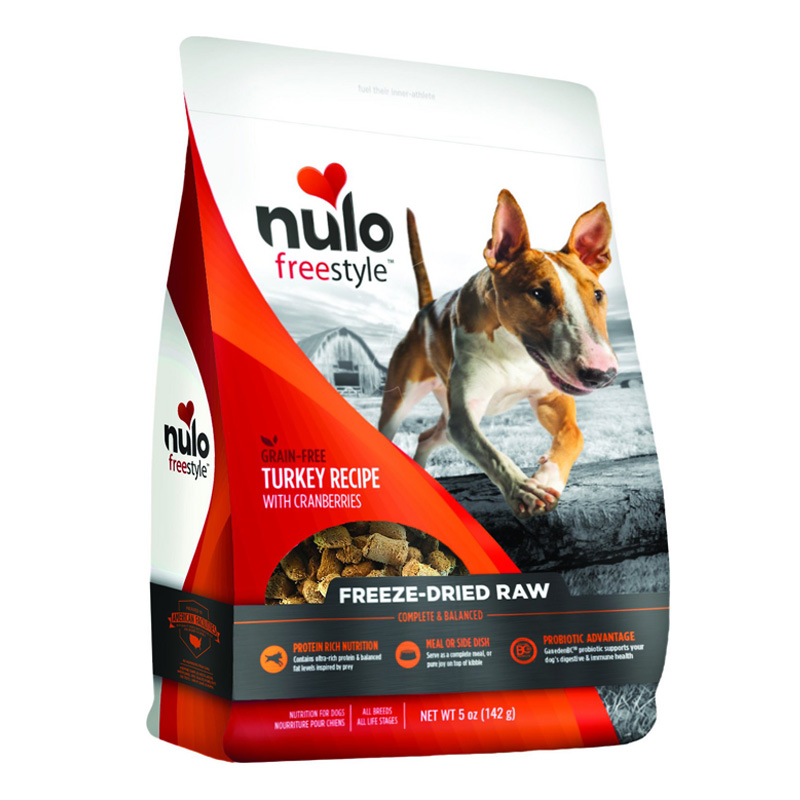 Nulo Freestyle Grain Free Freeze Dried Raw Turkey Recipe With Cranberries Dog Food 5oz  I016378