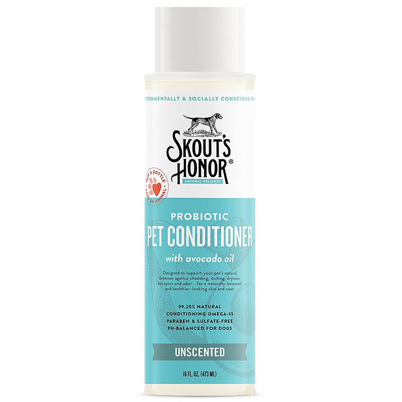 Skout's Honor Probiotic Unscented Pet Conditioner With Avacado Oil 16 oz. I016382