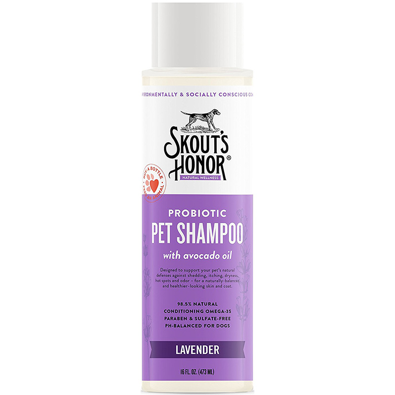 Skout's Honor Probiotic Lavender Pet Shampoo With Avacado Oil 16 oz. I016386