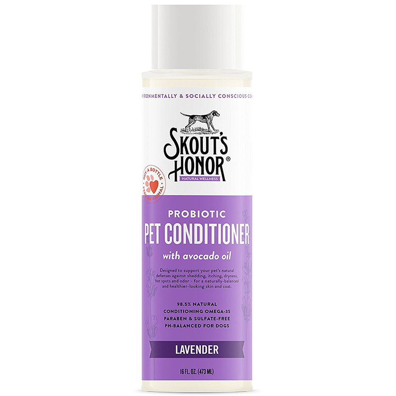 Skout's Honor Probiotic Lavender Pet Condtioner With Avacado Oil 16oz. I016387
