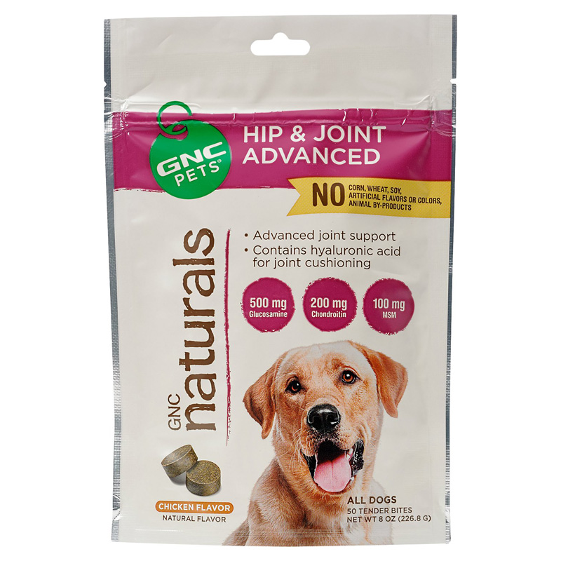 GNC Pet GNC Naturals Hip & Joint Advanced Tender Bites Chicken Flavor for Dogs 50 ct  I016404