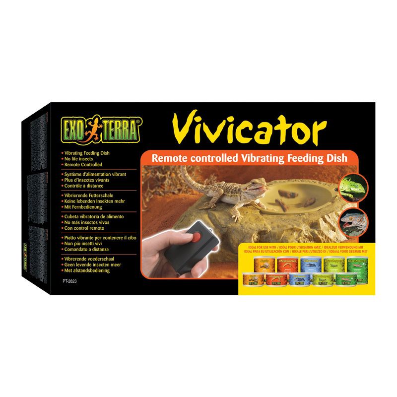 Exo Terra Vivicator Remote Controlled Vibrating Feeding Dish  I016426