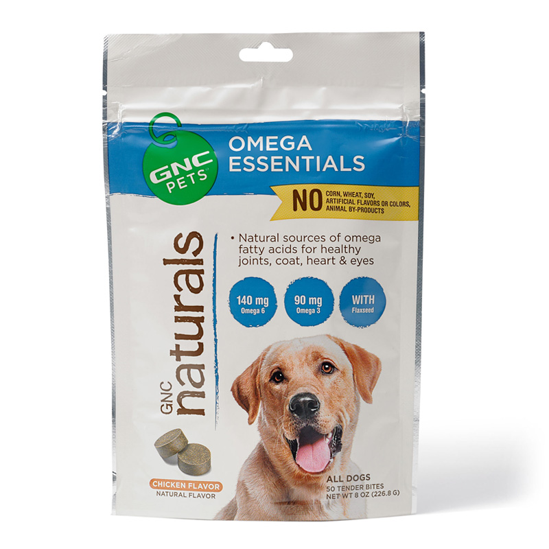 GNC Pets Naturals Omega Essentials Tender Bites Chicken Flavor 50 ct I016432