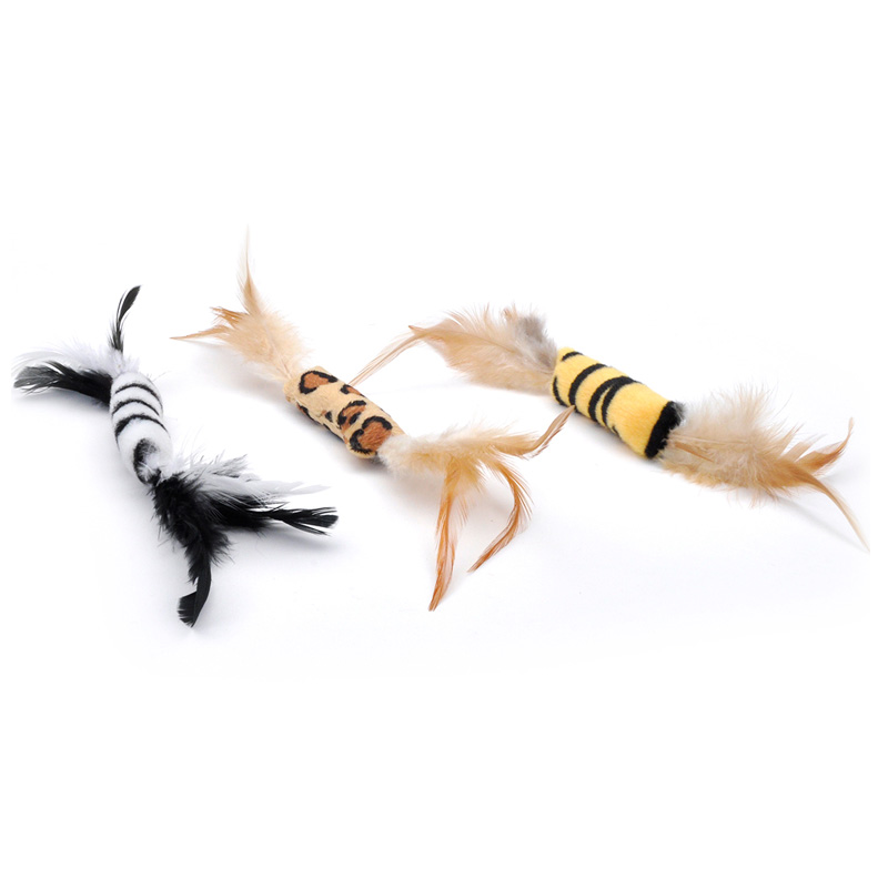 Coastal Feather Cat Toy 8 in I016450