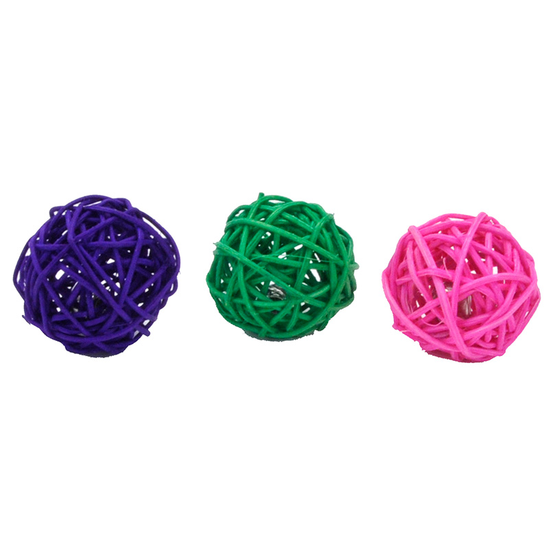 "Wicker Ball Cat Toy 1.75""  I016455"