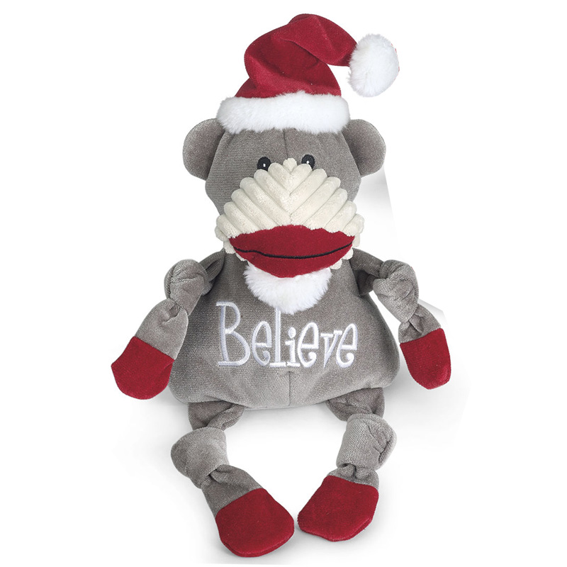 HuggleHounds Believe Sock Monkey Knottie  I016472b