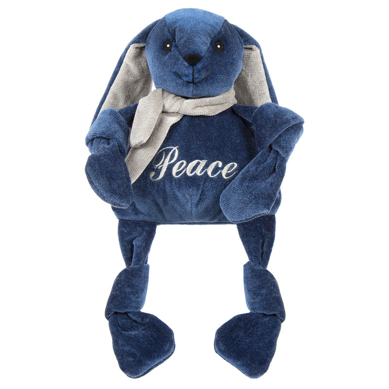 Huggle Hounds Peace Rabbit Knottie Dog Toy  I016483b