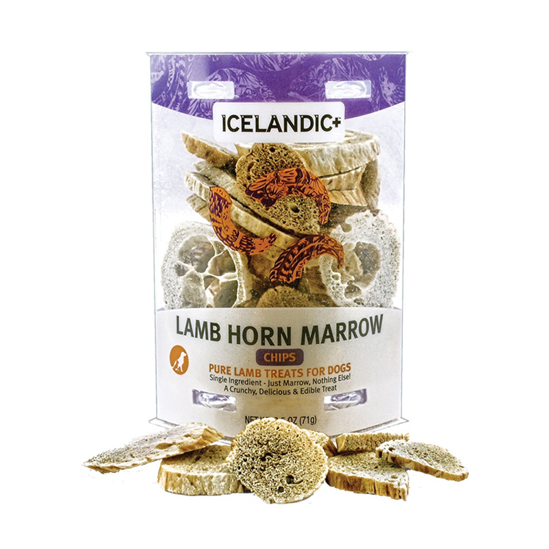 Icelandic+ Lamb Horn Marrow Chips Dog Treat 2.5 oz.  I016488
