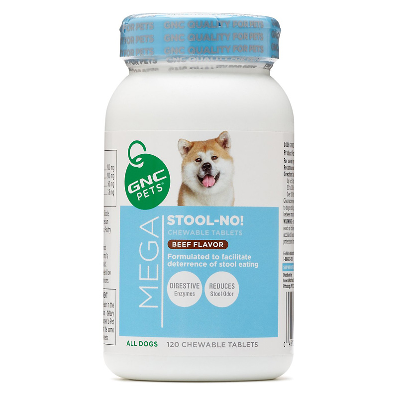 GNC Pets Mega Stool-No! Chewable Tablets for All Dogs Beef Flavor 120 ct I016492