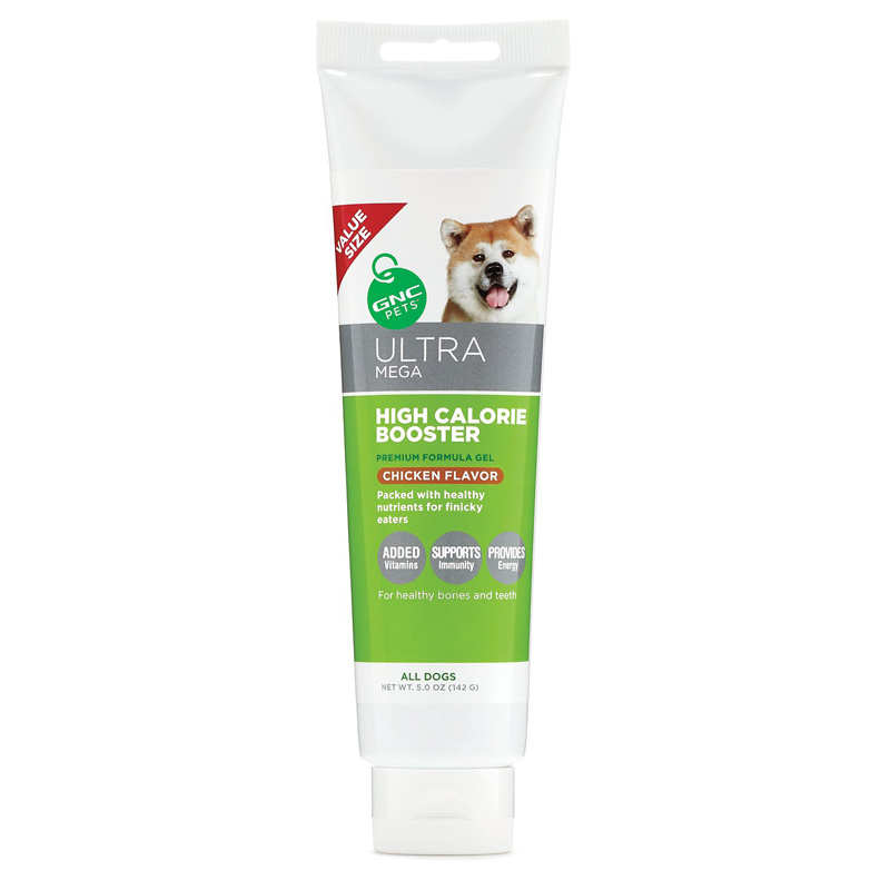 GNC Pets Ultra Mega High Calorie Booster Gel for All Dogs Chicken Flavor 5 oz I016494
