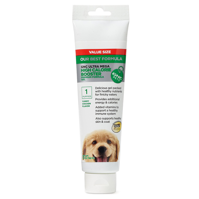 GNC Pets Ultra Mega High Calorie Booster Gel for Puppies Yummy Chicken Flavor 5 oz I016495