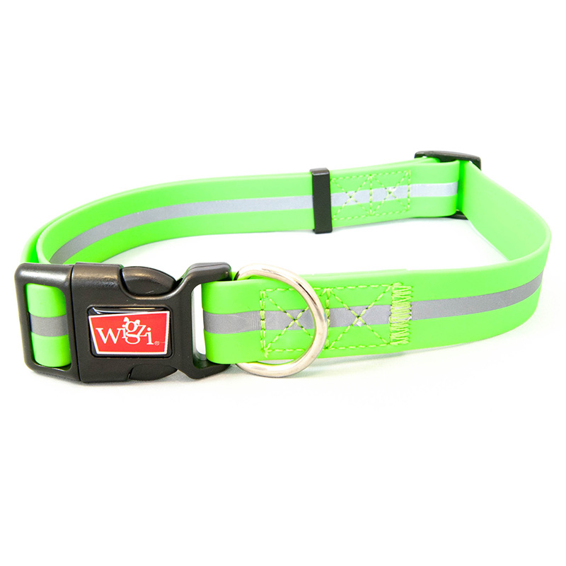 Wigzi Waterproof Adjustable Collars Green  I016528b
