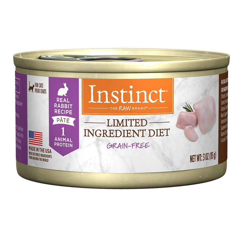 Nature's Variety Instinct Limited Ingredient Diet Grain-Free Real Rabbit Recipe Cat Food 3 oz  I016546