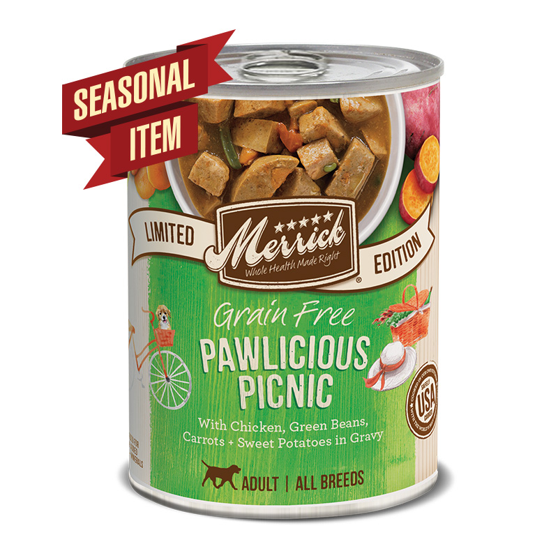 Merrick Grain Free Pawlicious Picnic Seasonal Recipe for Dogs 12.7 oz. I016617