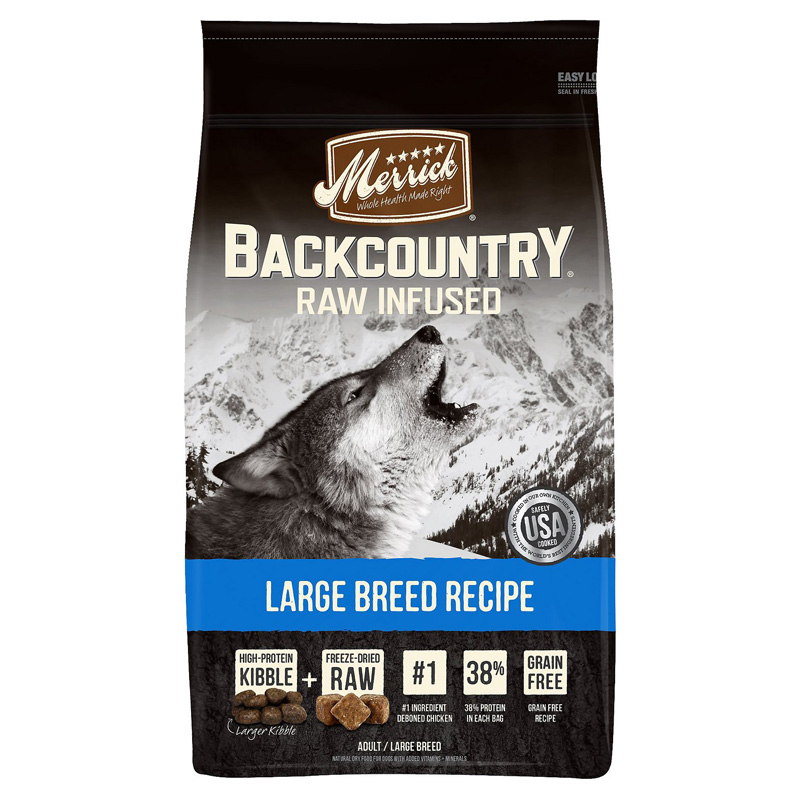 Merrick Backcountry Raw Infused Large Breed Recipe 22 lbs. I016618