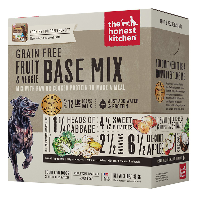 The Honest Kitchen Dehydrated Grain Free Fruit & Veggie Base Mix  I016623b