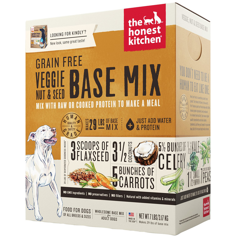 The Honest Kitchen Dehydrated Grain Free Veggie, Nut & Seed Base Mix  I016629