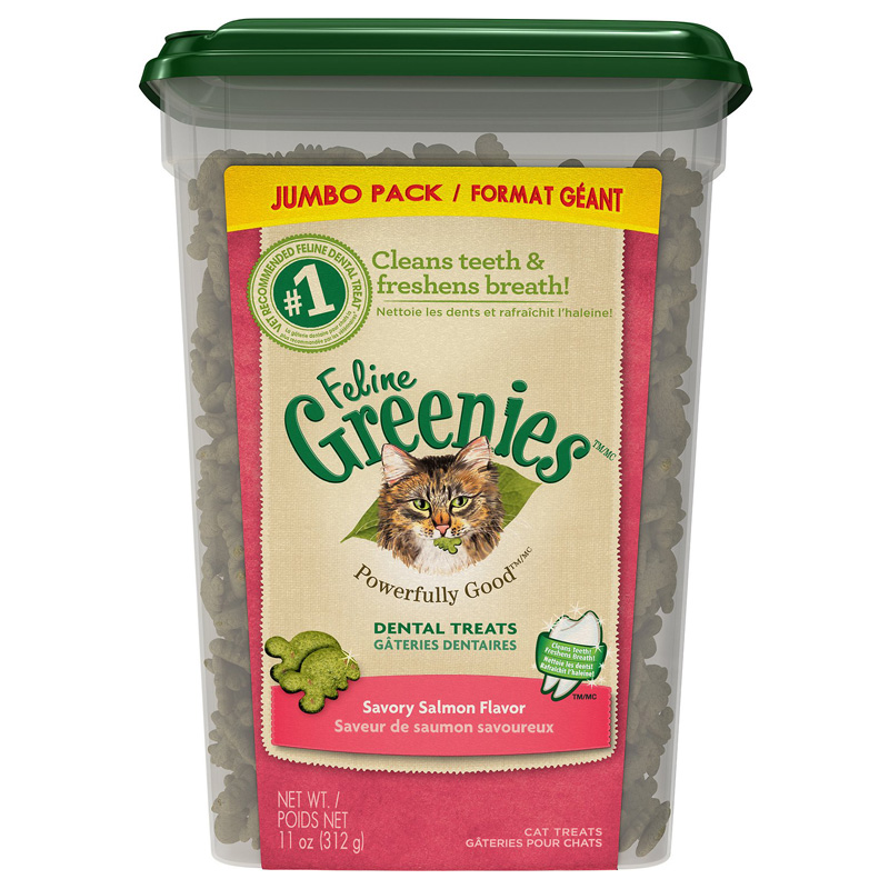 Feline Greenies Dental Treats Savory Salmon 11 oz I016630