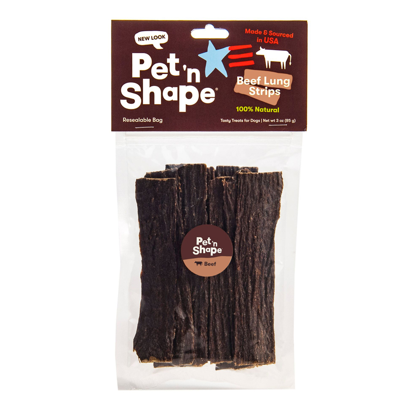 Pet'n Shape Beef Lung Strips 3 oz.  I016680