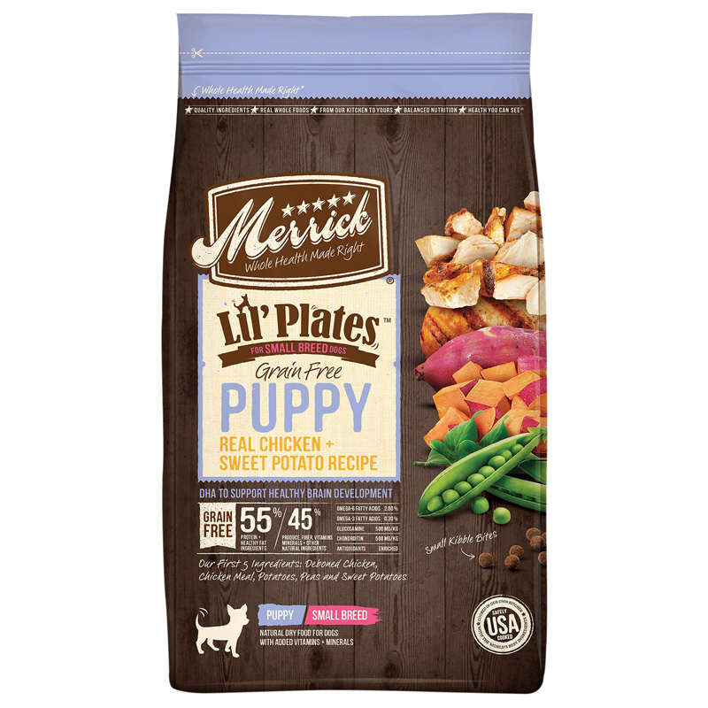 Merrick Lil' Plates Grain Free Puppy Real Chicken + Sweet Potato Dry Dog Food 12 lbs. I016690