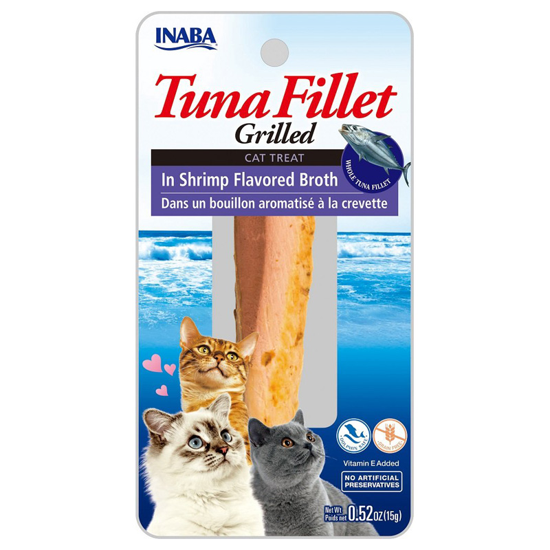 Inaba Ciao Grilled Tuna Fillet in Shrimp Broth Cat Treat 0.9 oz I016723