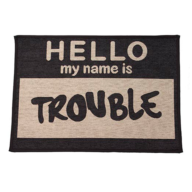 PetRageous Hello My Name is Trouble Jumbo Tapestry Placemat I016763