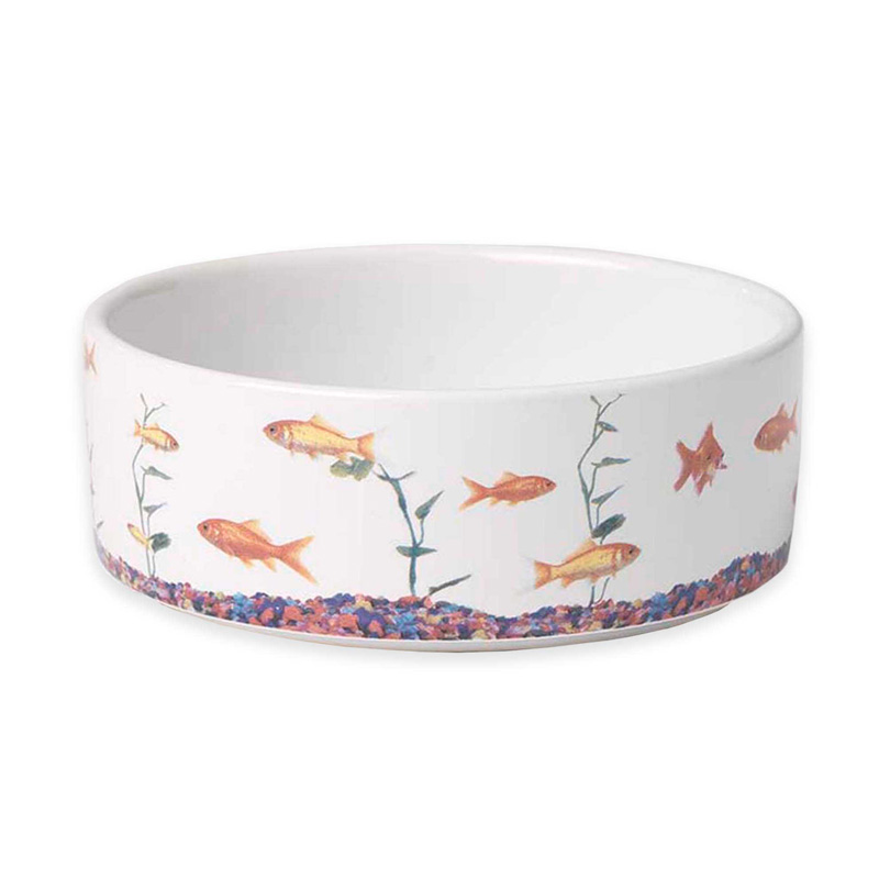 PetRageous In the Tank Fish Stoneware Bowl I016765