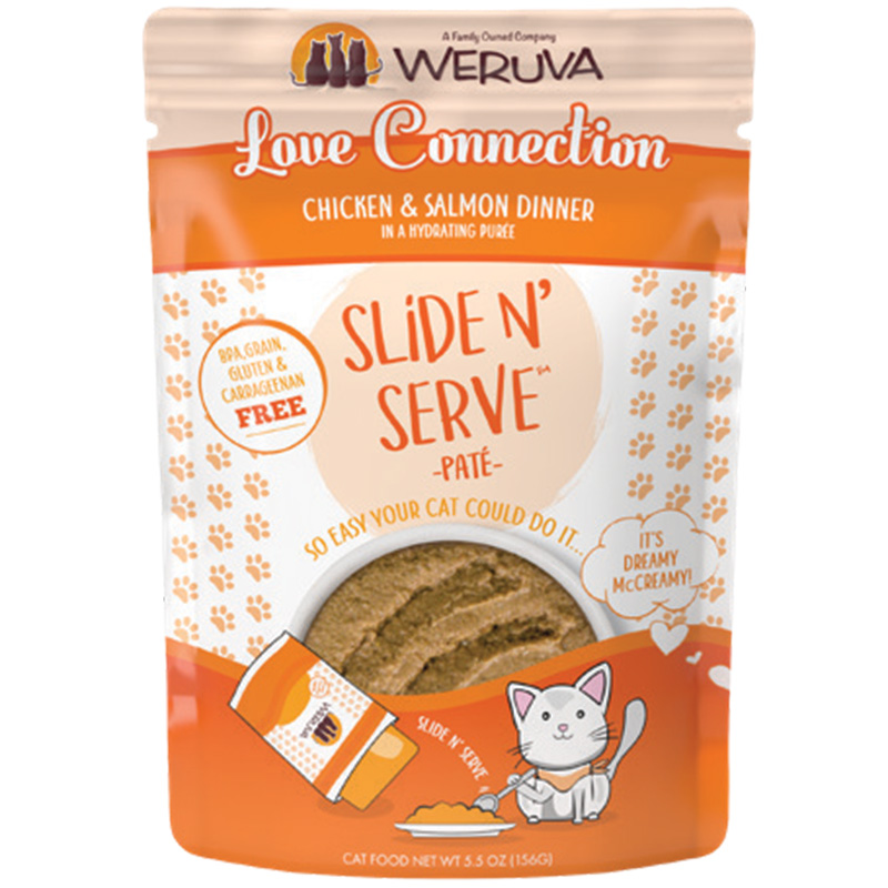 Weruva Love Connection Chicken and Salmon Dinner Pate 2.8oz I016789b