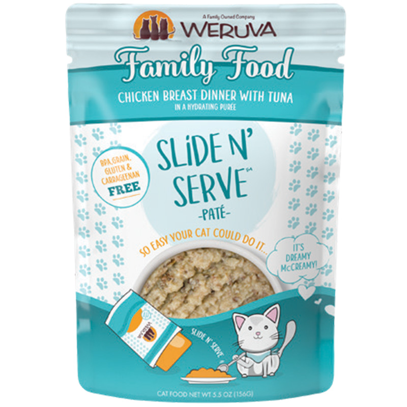Weruva Family Food Chicken and Tuna Dinner Pate Pouch I016797b