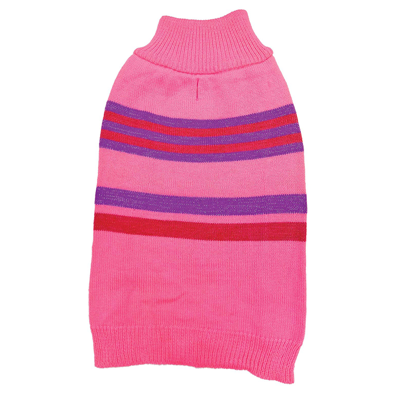 Ethical Products Fashion Pet Shimmer Stripes Sweater Pink I016811b