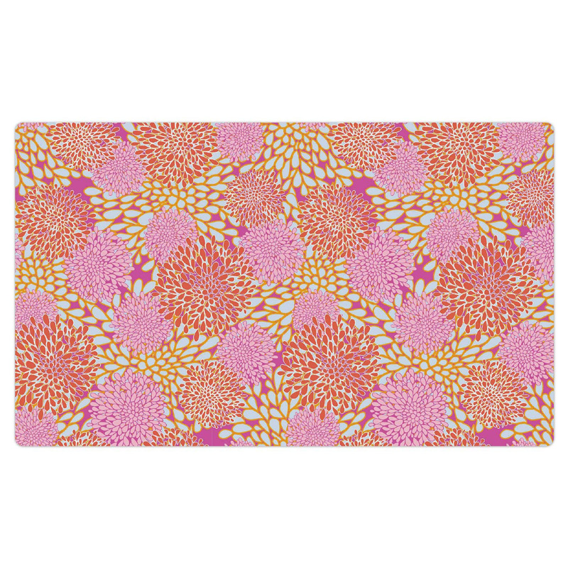 "Drymate Pet Bowl Placemat Rejuvenation Pink Flowers 12"" X 20"" I016832"