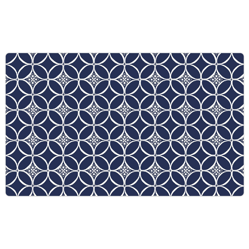 "Drymate Pet Bowl Placemat Indigo Navy & White 12"" X 20"" I016838"
