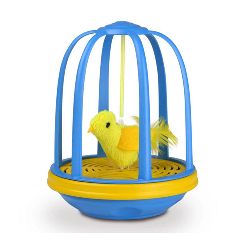 OurPets Bird in a Cage Electronic Cat Toy  I016877