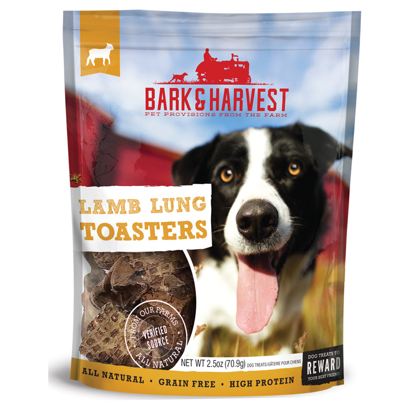 Superior Farms Bark & Harvest Lamb Lung Toasters Dog Treats 2.5 oz I016915