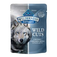 Blue Buffalo Blue Wilderness Wild Cuts Trail Toppers Chunky Chicken Bites in Hearty Gravy 3 oz I016937
